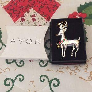 Avon 2011 Reindeer Light Up Pin Christmas